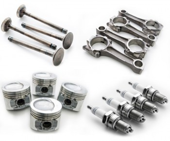 Set of Geometrical auto parts