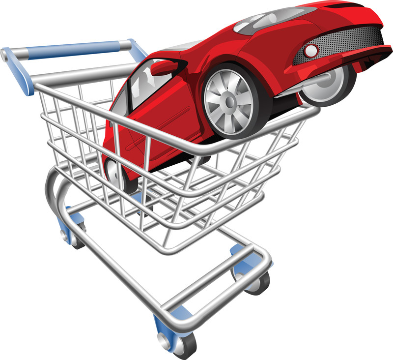 Car shopping cart concept in Helping Consumers