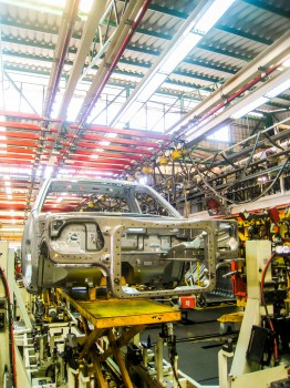 Car in assembly line