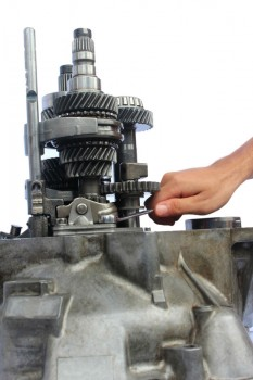 Working on engine